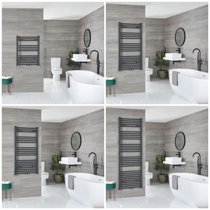 Neva Electric - Anthracite Flat Towel Warmer - Choice of Size