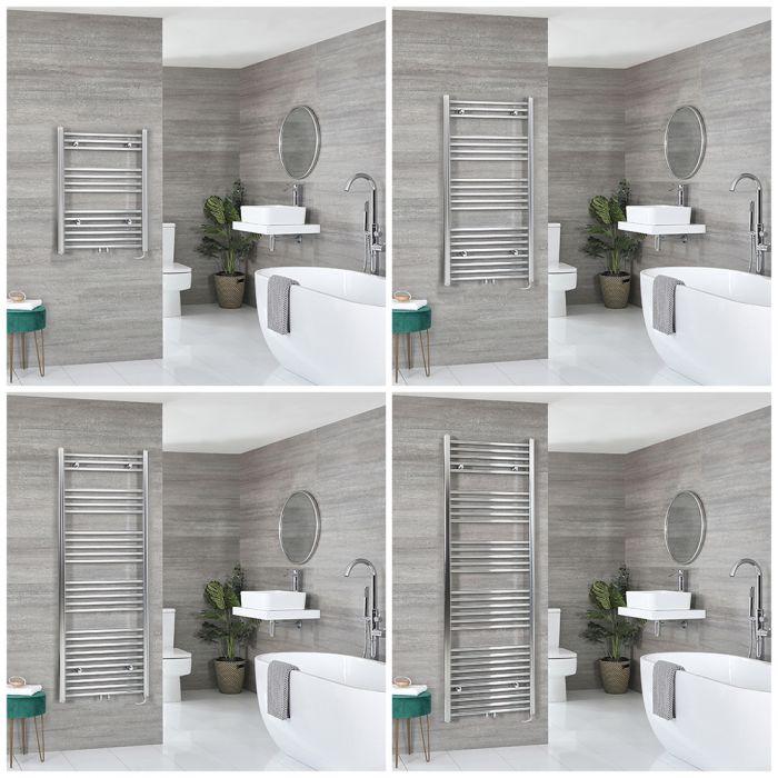 Neva Electric - Chrome Flat Towel Warmer - Choice of Size