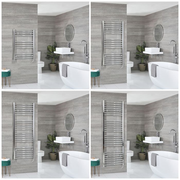 Kent Electric - Chrome Curved Towel Warmer - Choice of Size