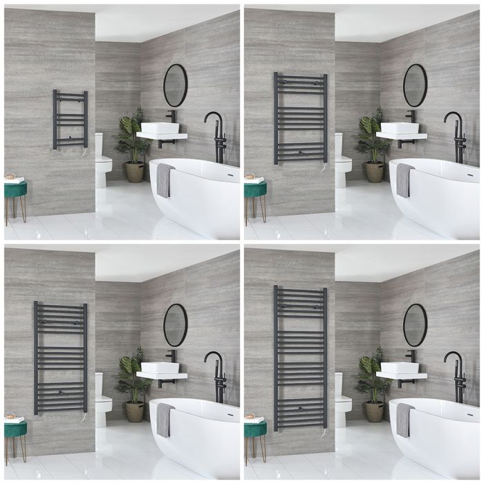 Artle Electric - Anthracite Flat Towel Warmer - Choice of Size