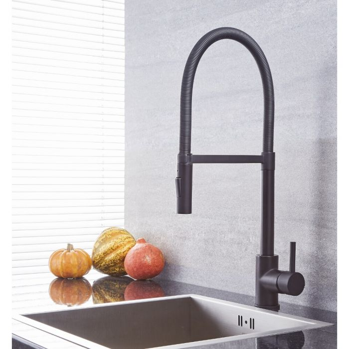 Quest - Black Single-Hole Kitchen Faucet