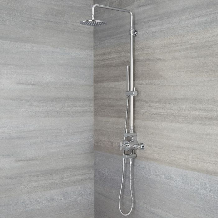Tec - Chrome Exposed Pipe Shower Column