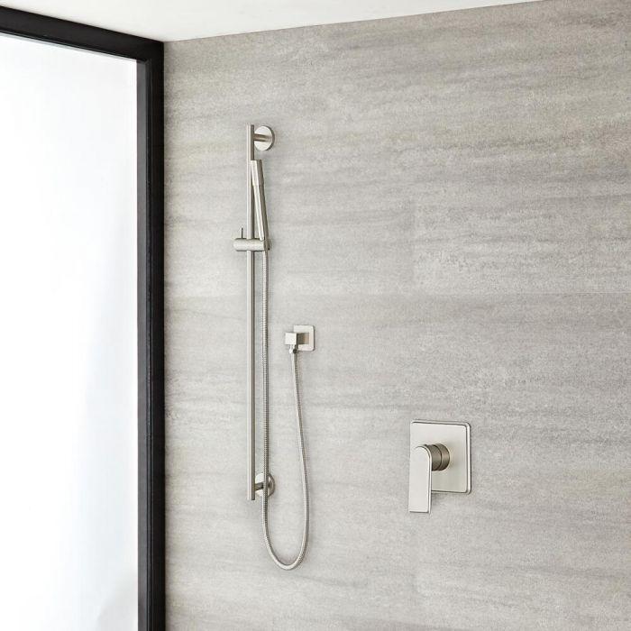 Eclipse Brushed Nickel Shower System with Slide Rail Kit