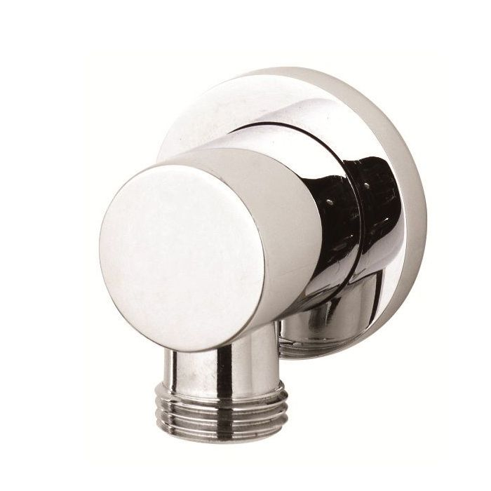 Minimalist Outlet Elbow Chrome Plated Brass