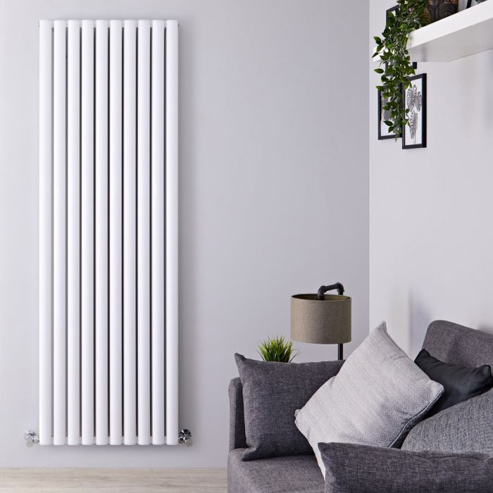 Revive Air - White Aluminum Vertical Double-Panel Designer Radiator - 70.75