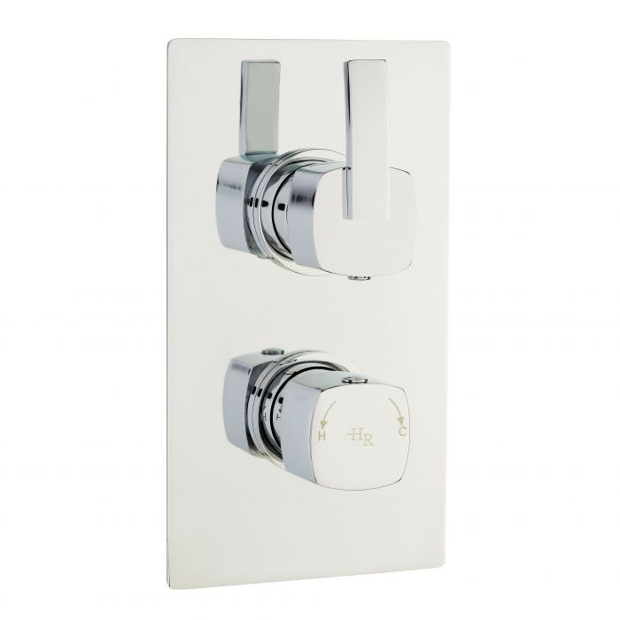 Arcade Thermostatic Twin Concealed Shower Faucet Valve