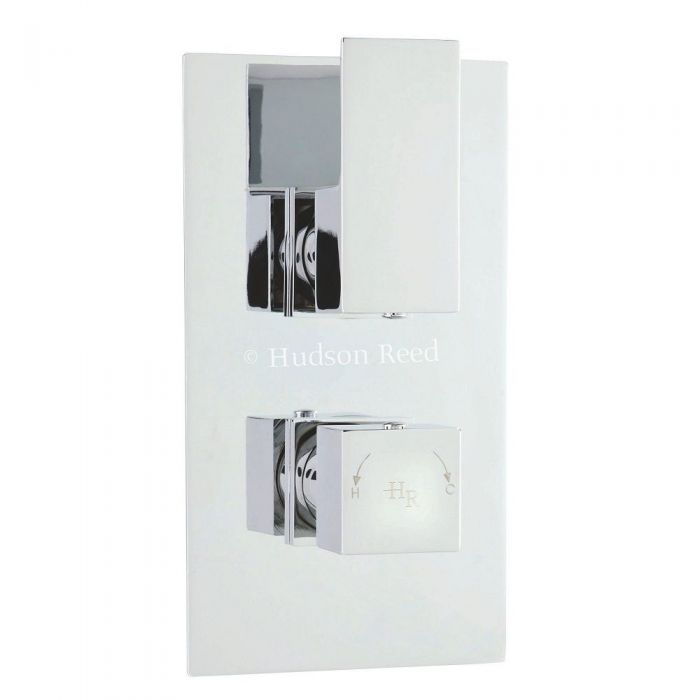 Aspire Concealed Thermostatic Twin Shower Faucet Valve with Diverter 2 Outlet Options