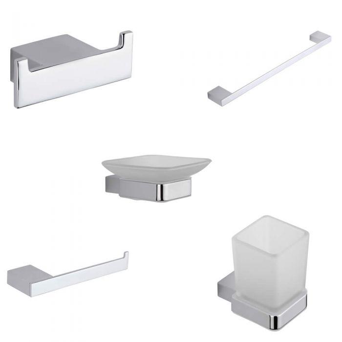 Parade Chrome Bathroom Accessory Set (5 Pieces)