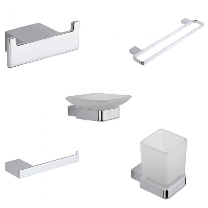 Parade Chrome 5-Piece Bathroom Accessory Bundle