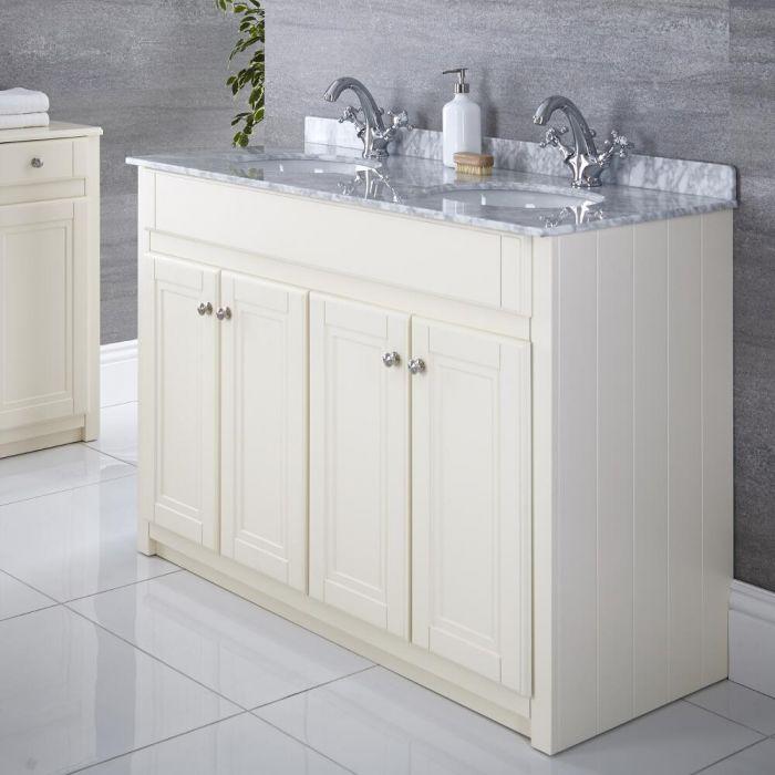 "Charlton - 47"" Ivory Traditional Bathroom Vanity"