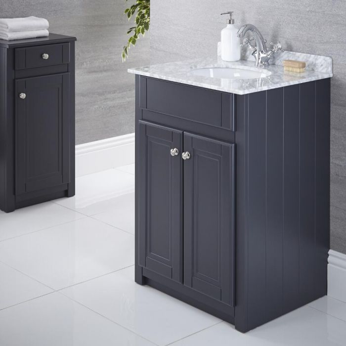 "Charlton - 24"" Anthracite Traditional Bathroom Vanity"