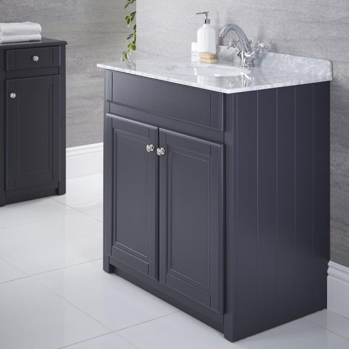 "Charlton - 32"" Anthracite Traditional Bathroom Vanity"