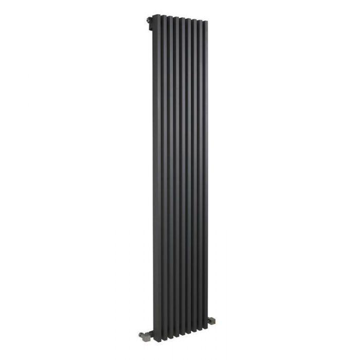 "Fin - Anthracite Vertical Single-Panel Designer Radiator - 70"" x 13.5"""