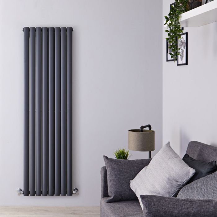 Revive - Anthracite Vertical Double-Panel Designer Radiator - 63