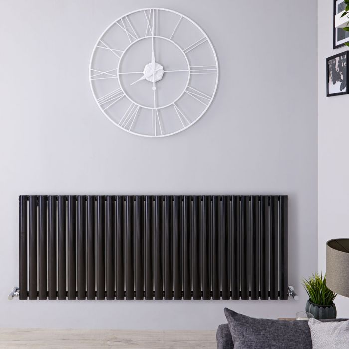 Revive - Black Horizontal Double-Panel Designer Radiator - 25
