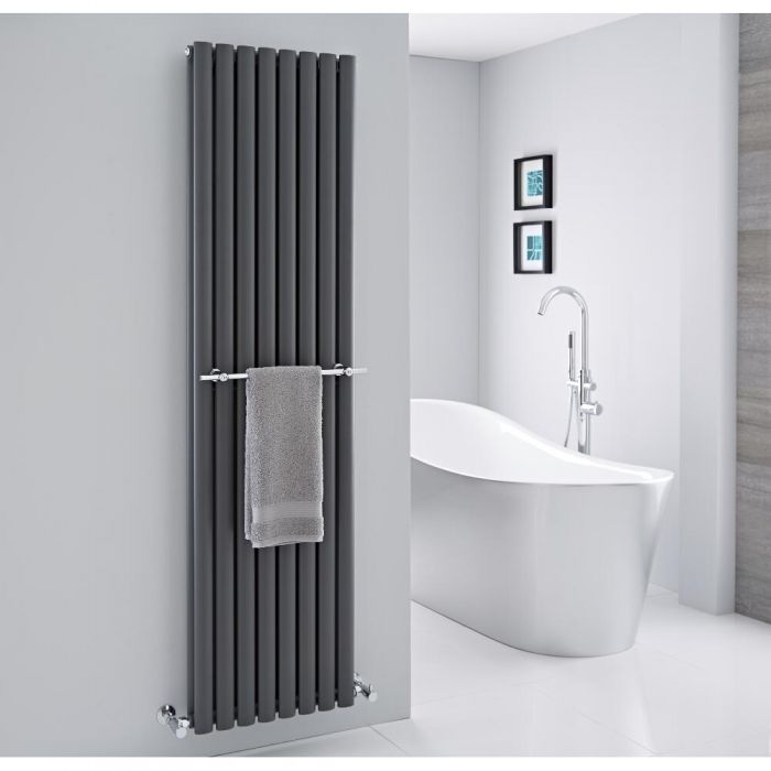 Hudson Reed - Chrome Towel Rail for Revive Vertical Designer Radiators - 18.5""