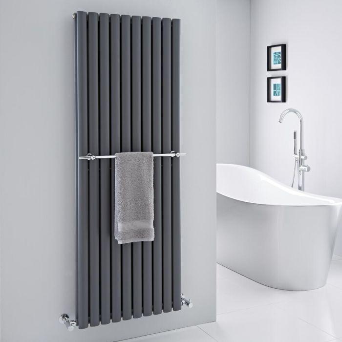 "Hudson Reed - Chrome Towel Rail for Revive Vertical Designer Radiators - 23.25"""