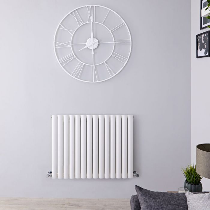 "Revive - White Horizontal Single-Panel Designer Radiator - 25"" x 32.75"""