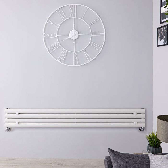 Revive - White Horizontal Single-Panel Designer Radiator - 9.25