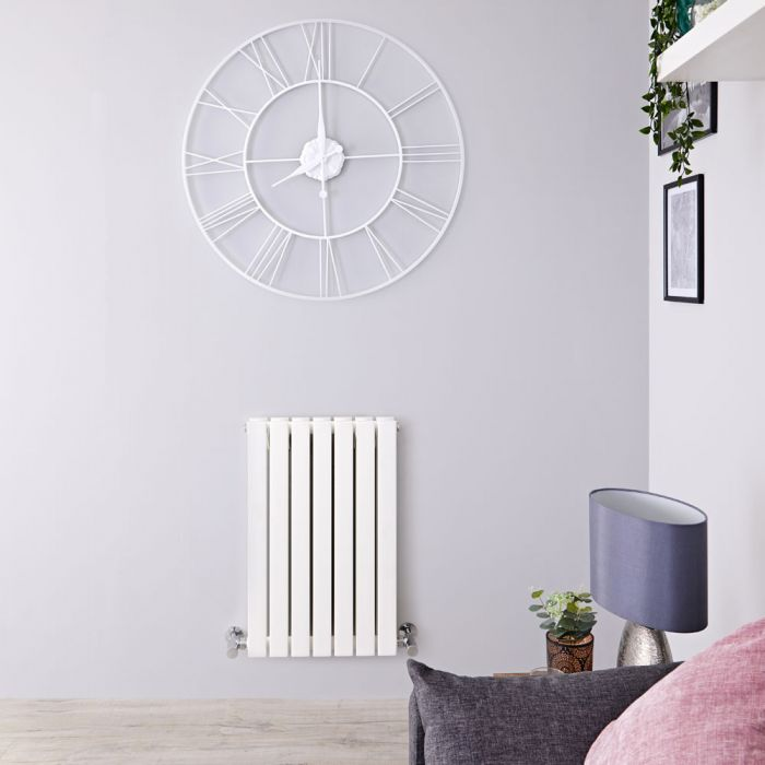 "Sloane - White Horizontal Double Flat-Panel Designer Radiator - 25"" x 16.5"""