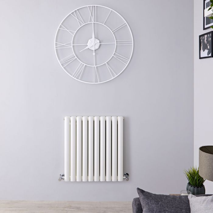 "Revive - White Horizontal Double-Panel Designer Radiator - 25"" x 23.25"""