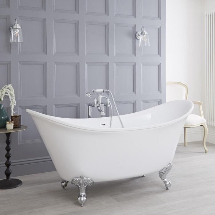 "Acrylic Double Ended Freestanding Bath Tub 70"""