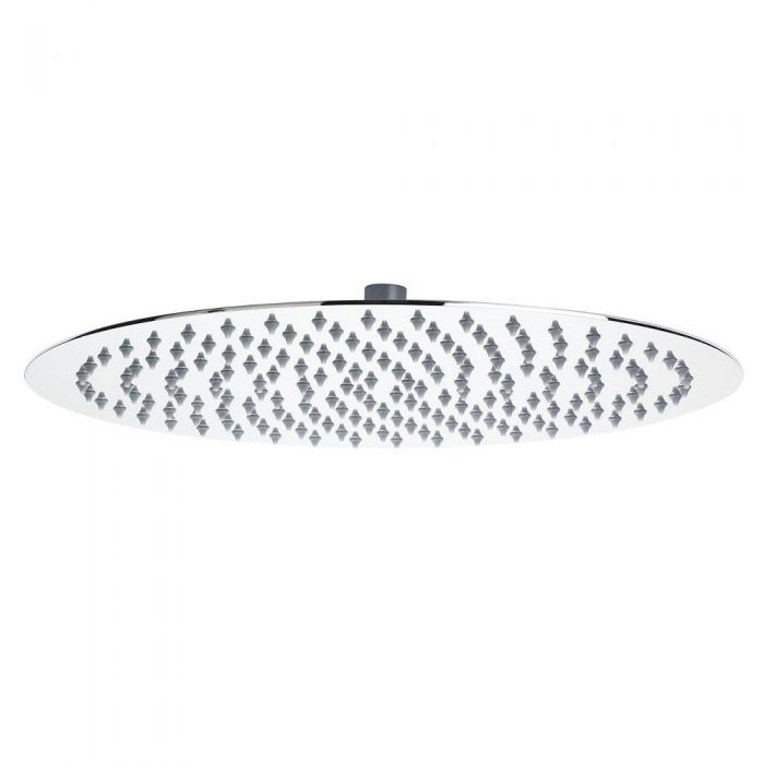 """15.75"""" Round Polished Stainless Steel Shower Head"""