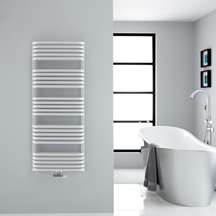 """Arch - White Hydronic Heated Towel Warmer - 50"""" x 19.75"""""""