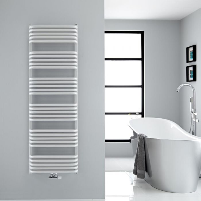 """Arch - White Hydronic Heated Towel Warmer - 60.25"""" x 19.75"""""""