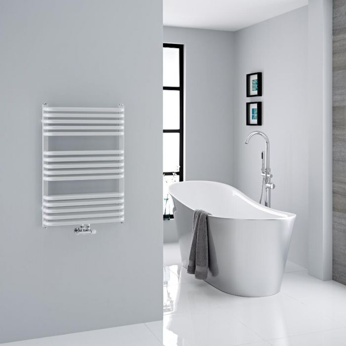 "Arch - White Hydronic Heated Towel Warmer - 29"" x 19.75"""