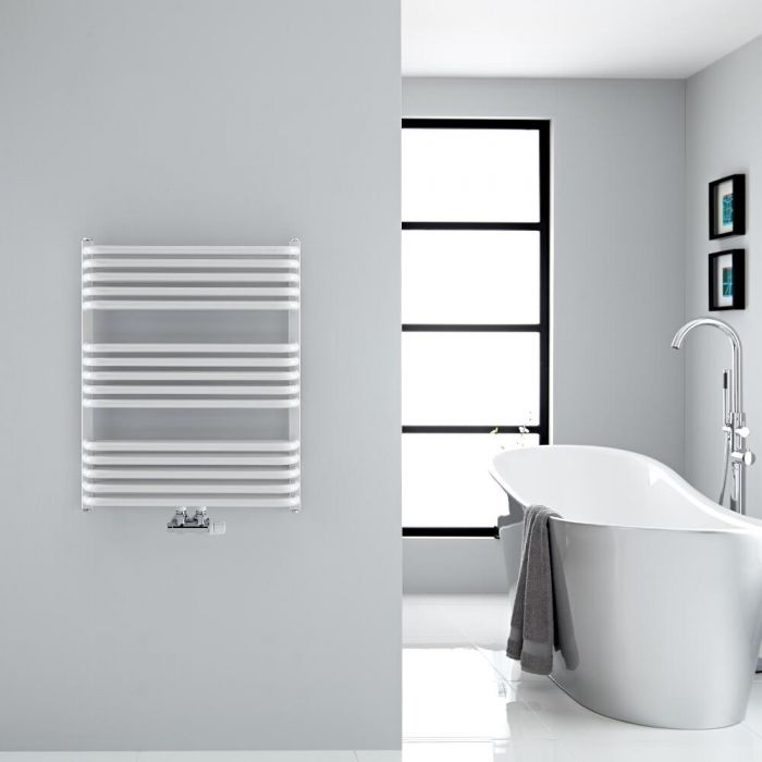 "Arch - White Hydronic Heated Towel Warmer - 29"" x 23.5"""