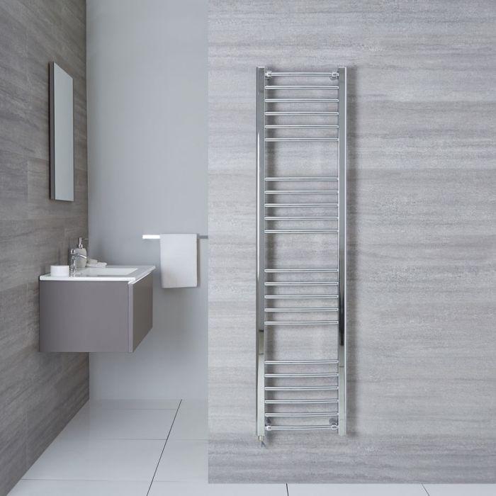 "Eco Electric - Chrome Curved Heated Towel Warmer - 63"" x 15.75"""