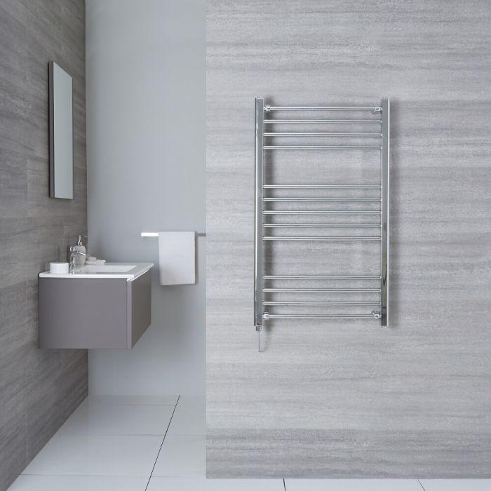 "Eco Electric - Chrome Curved Heated Towel Warmer - 39.5"" x 19.75"""
