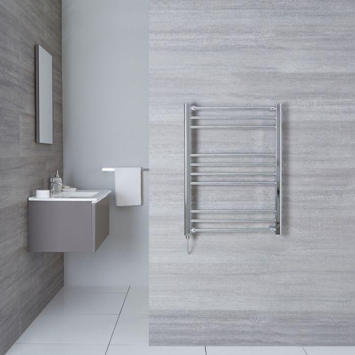 "Eco Electric - Chrome Curved Heated Towel Warmer - 31.5"" x 23.75"""
