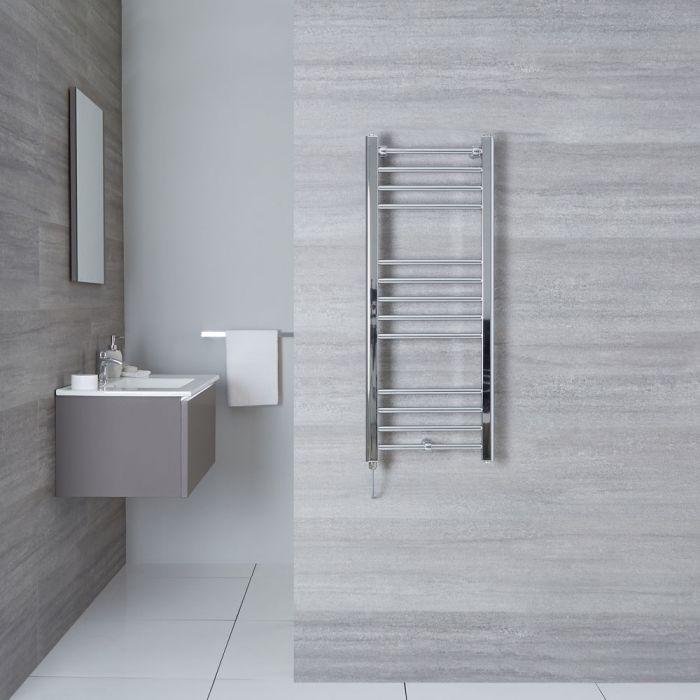 "Eco Electric - Chrome Heated Towel Warmer - 39.5"" x 15.75"""