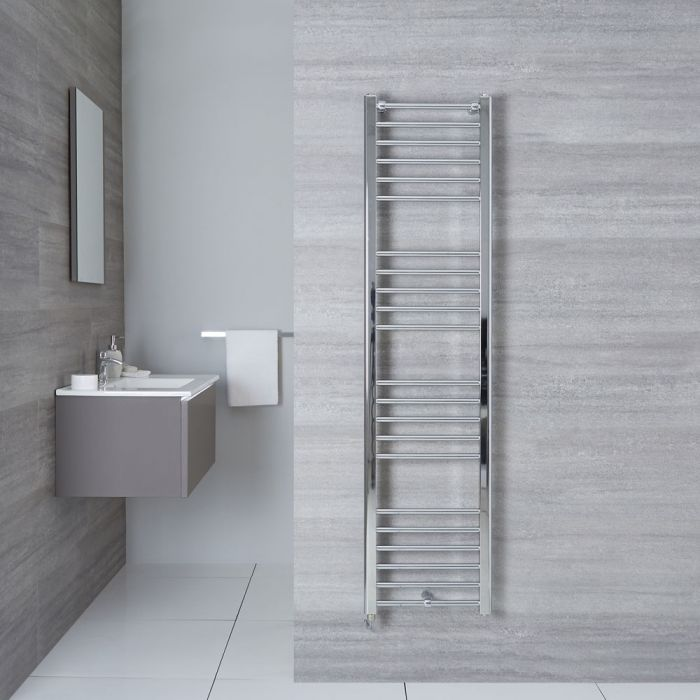 "Eco Electric - Chrome Heated Towel Warmer - 63"" x 15.75"""