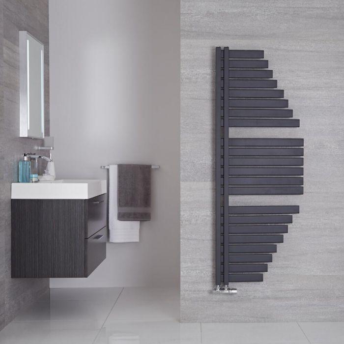"Lazio - Anthracite Hydronic Designer Towel Warmer - 57.5"" x 21.5"""
