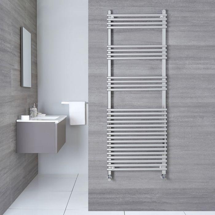 "Ischia - Hydronic Chrome Heated Towel Warmer - 65"" x 23.5"""