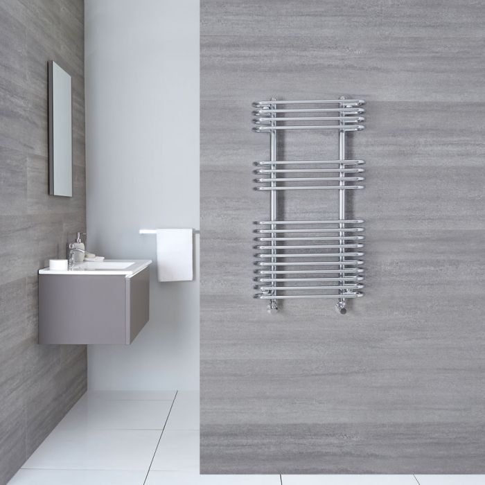 "Select - Hydronic Chrome Heated Towel Warmer - 35.5"" x 19.75"""