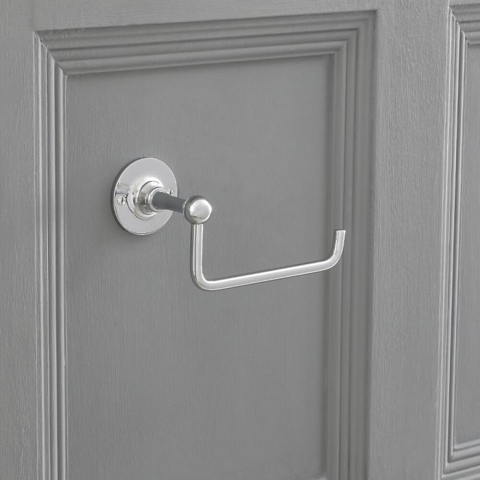 Toilet Roll Holder With Chrome Finish