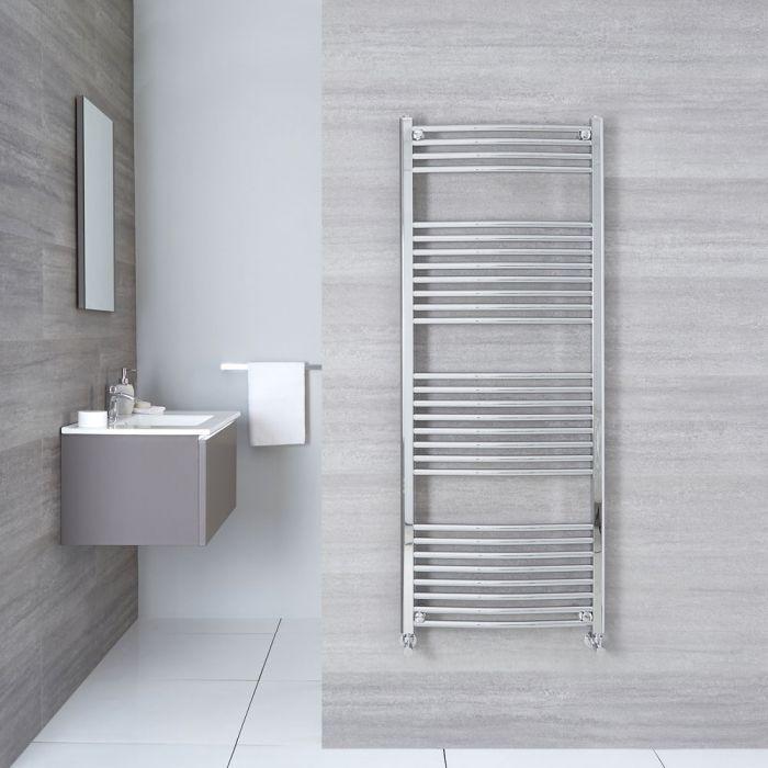 "Etna - Hydronic Chrome Heated Towel Warmer - 59"" x 23.5"""