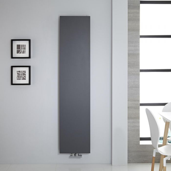 "Vivara - Anthracite Vertical Flat-Panel Designer Radiator - 70.75"" x 15.75"""