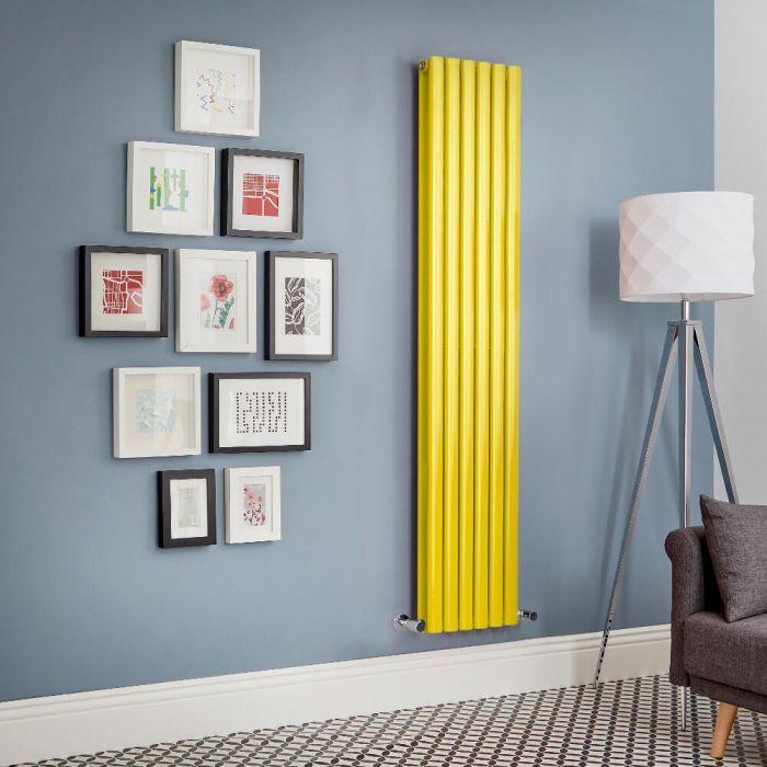 Revive - Yellow Vertical Double-Panel Designer Radiator - All Sizes