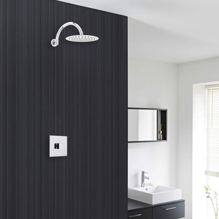 """Valquest Chrome Shower System with 8"""" Thin Shower Head and Sequential Valve"""