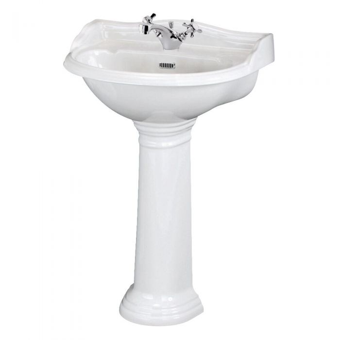"""Traditional Ryther  Porcelain Sink and Pedestal 23"""""""