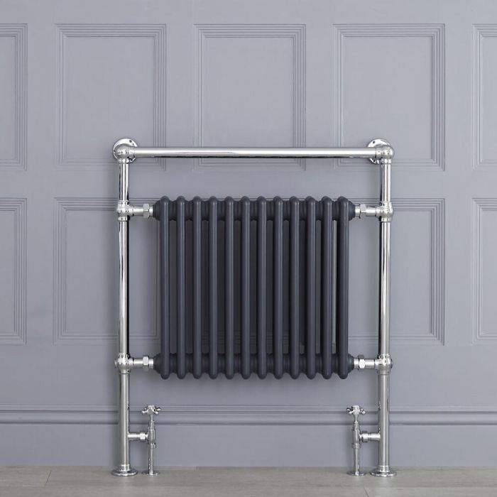 "Marquis - Anthracite Traditional Heated Towel Warmer - 36.75"" x 31.25"""