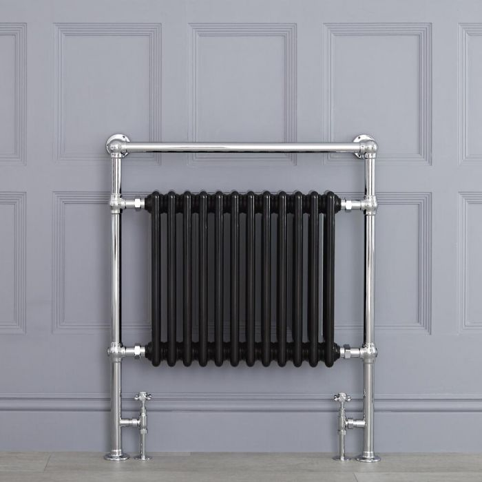 "Marquis - Black Traditional Heated Towel Warmer - 36.75"" x 31.25"""