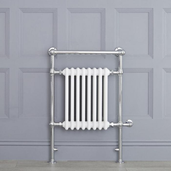 """Marquis Electric  - White Traditional Heated Towel Warmer with Shelf - 36.75"""" x 24.5"""""""