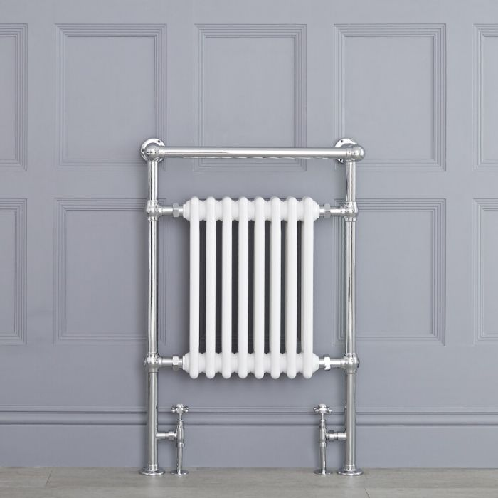 "Marquis - Traditional Hydronic Heated Towel Warmer with Shelf - 36.75"" x 24.5"""