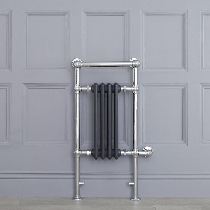 """Marquis Electric  - Anthracite Traditional Heated Towel Warmer with Shelf - 36.75"""" x 17.75"""""""